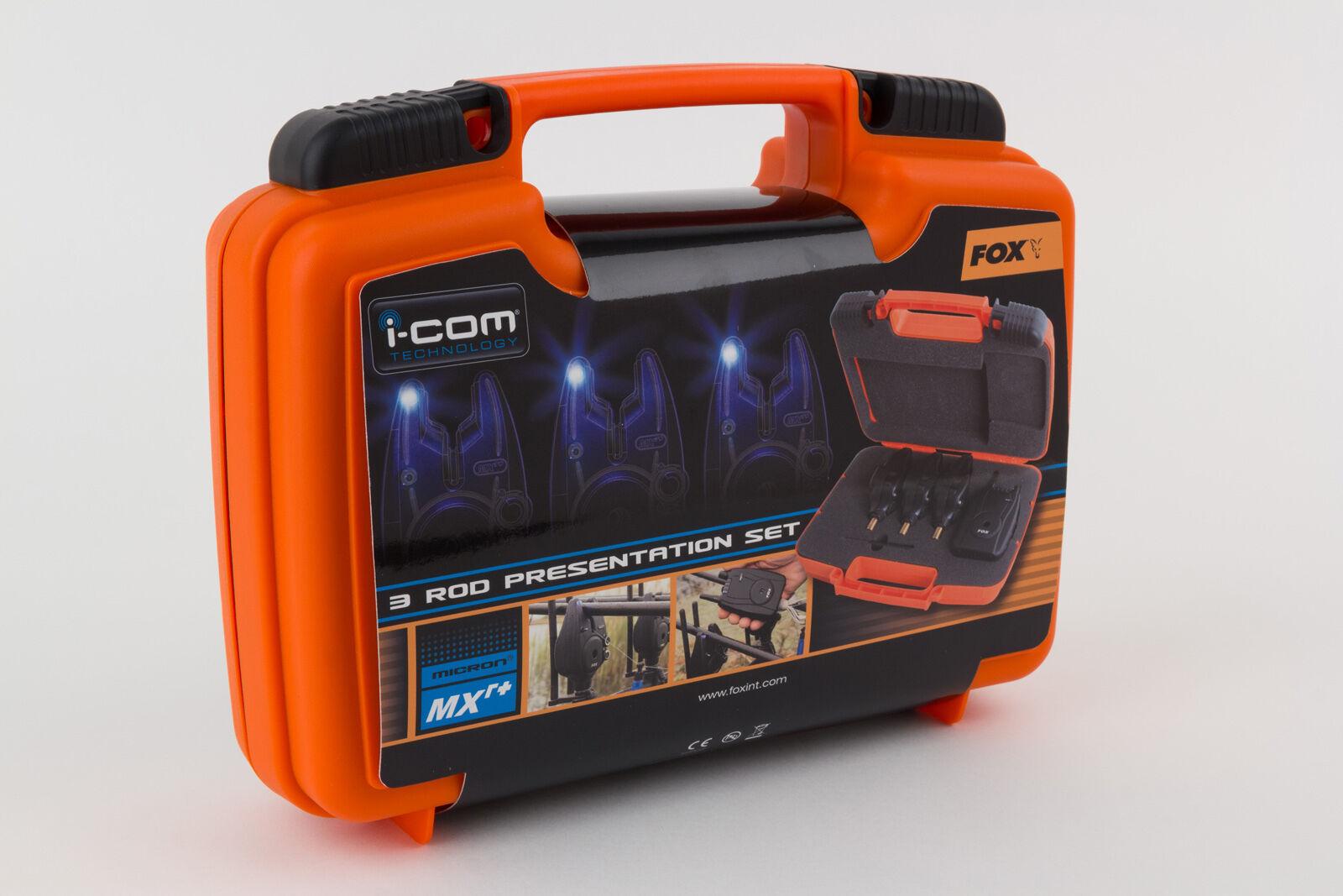 Fox MXR+ Bite Alarm Set - - Set 4 Alarms & Receiver in a Presentation Case Brand New 0dc881