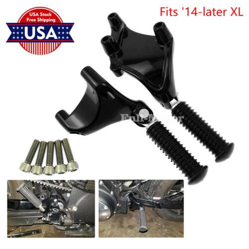 Black Rear Passenger Foot Peg Mount Fot Harley Iron Sportster 883 1200 2014-2019