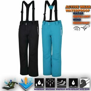 Womens-Ski-Trouser-Padded-Wind-Waterproof-Snow-Pant-Snowboard-Salopettes-Intrigu