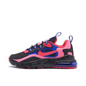 Details about Girls' Little Kids' Nike Air Max 270 React Casual Shoes BlackFlash CrimsonRace