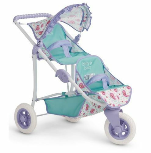 American Girl Bitty Baby Double Doll Stroller NEW
