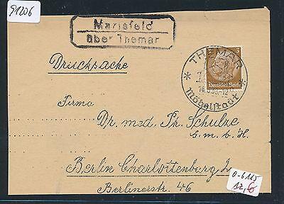 91206) DR > DDR Landpost Ra2 Marisfeld über Themar, Fa.-DS 1938