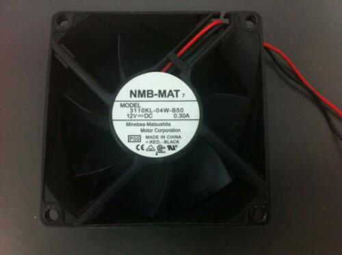 NMB-MAT 2 wire 12VCD 0.30A 80x80x25mm DC Brushless Fan 3110KL-04W-B50 Model