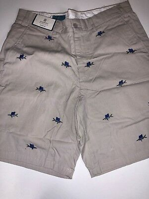 Castaway Nantucket Island Men/'s Shorts Stone Embroidered Martini Tan Sz 35 B-90