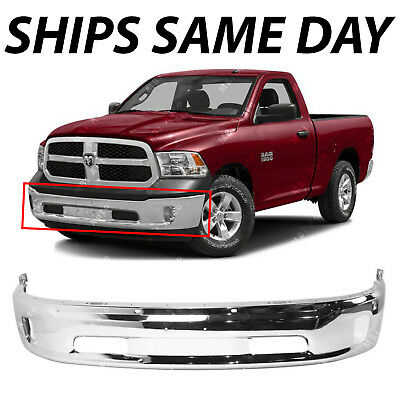 Steel Front Lower Bumper For 2014-2018 Ram 1500 All Cab Type Chrome