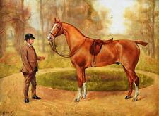 "George Paice 1854-1928 London / Gemälde ""Mohican"" 1887 Rennpferd Horse-Racing"