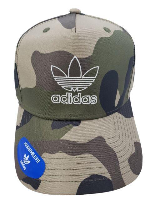 Adidas Originals Men's Dart Precurve Snapback Cap Hat Camo White New