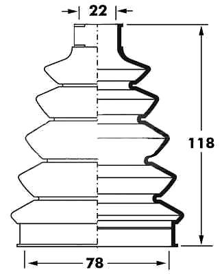 Toyota Celica 85-99 servicio de reemplazo de arranque universal elástico Cv parte