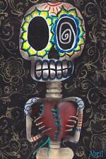 Toma Mi Corazon by Abril Andrade Griffith Fine Art Print Sugar Skull Skeleton