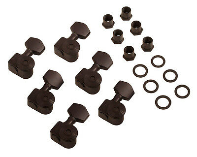 new usa sperzel locking tuners 6 in line black satin 12 1 guitar fender strat ebay. Black Bedroom Furniture Sets. Home Design Ideas