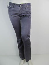 Versace Jeans Couture VJC Denim Jeans Hose Pantalone Vita Bassa Lila Strass 26