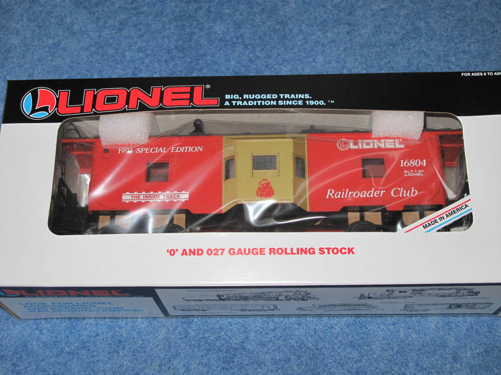 1991 Lionel 6-16804 Lionel Railroader Club Bay Window Caboose NIB L2282