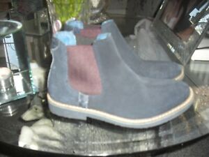 Ted Baker boys Chelsea Boot Black suede