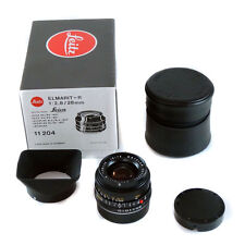 Leica Elmarit-R 28mm f/2.8 11204 inc Hood & Case *Boxed Excellent Condition*
