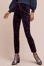 NWT Sz 27 Anthropologie Pilcro Script High-Rise Velvet Jeans Pants Floral