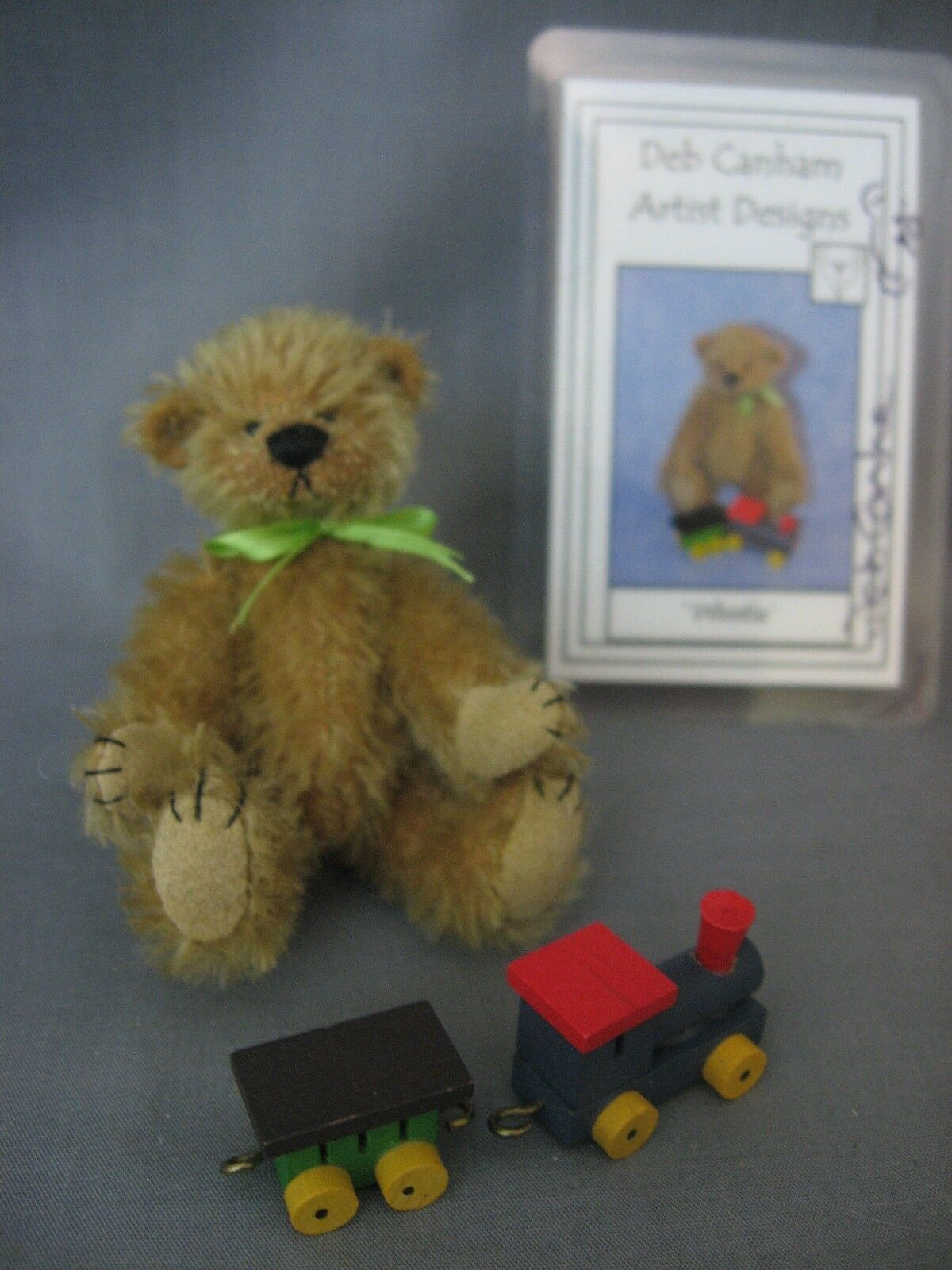 DEB CANHAM - WHISTLE - 2011 - LIMITED EDITION -  93 100- BEAR WITH TRAIN