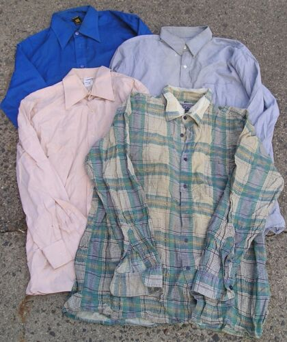 4 chemises dont travail san , workwear shirt vintage