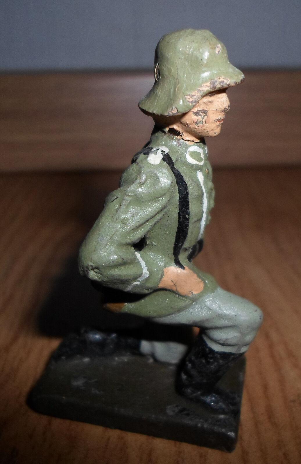 ELASTOLIN LINEOL original prewar german gun cannon loading crew Soldier knees