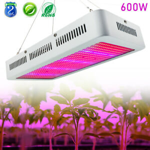 Details about 600W LED Grow Light Full Spectrum Panel Lamp With Rope Hanger  for Indoor Plants