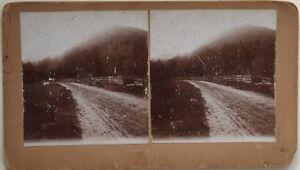 Camino-En-Los-Montanas-Estados-Unidos-Foto-Estereo-10x17-8-CM-Vintage-Citrato