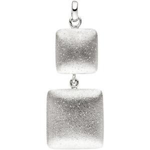 Anhaenger-zwei-Quadrate-aus-925-Silber-mattiert-Silberanhaenger-Halsschmuck-Damen