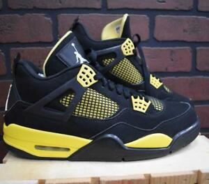 lowest price 223d4 a2ddd Image is loading Air-Jordan-Retro-4-Thunder-Size-10-5