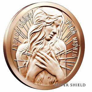 Silver-Shield-Peace-Within-1-oz-Copper-Round-Direct-From-Mint-Tube