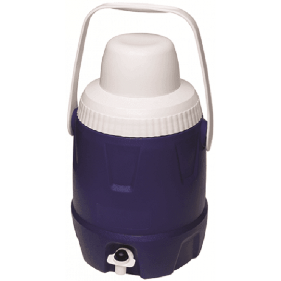 Ebony COOLER JUG WITH TAP 5L Smooth Handle, Removable Drinking Cup Blau