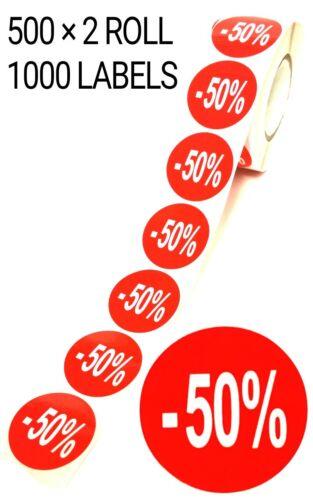 1000 × Rosso 50/% di Sconto Autoadesivo adesivi appiccicoso ETICHETTE Swing per al 35 MM NUOVO