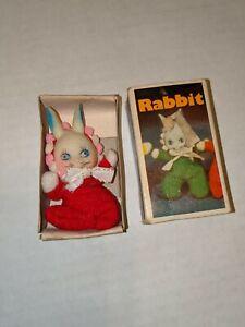 Vintage-Baby-William-Bean-Matchbox-Rabbit-Doll-Zoo-series-w-Box-Hong-Kong