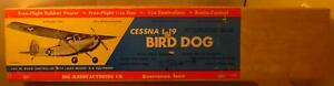Sig-Cessna-L-19-Bird-Dog-Balsa-Incomplete-Kit-Parts-Instruction-Sheets-and-Box