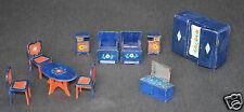 Puppenstubenzubehör Möbel 30er Jahre Bett Tisch Stuhl Nachttisch Schrank