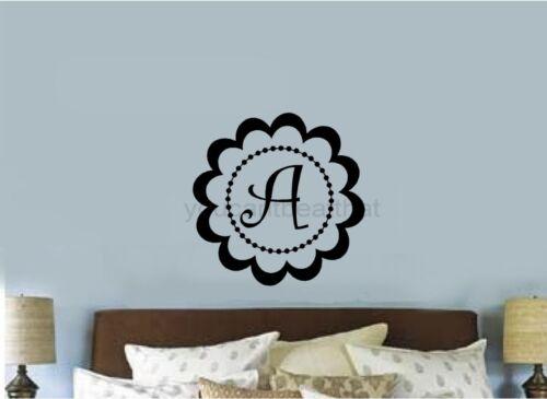 Custom Monogram Vinyl Decal Sticker Wall Lettering Teen Room Dorm Room Laptop