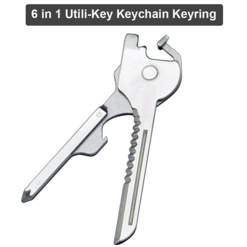 Multi-Tool Pocket Screwdriver 6 in1 Swiss Tech Utili-Key Key Rings Chains Tools