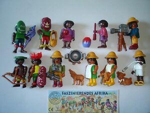 KINDER SURPRISE SET - AFRICAN CULTURE SAFARI PEOPLE 1995 TOYS FIGURES MINIATURES