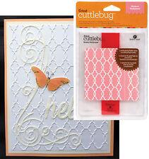 CUTTLEBUG Embossing folders MODERN WALLPAPER wedding all occasion folder set