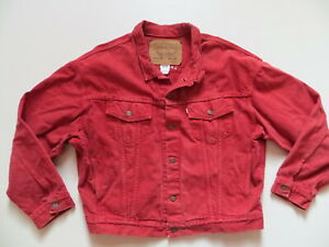 Levi-039-s-Jacke-Jeansjacke-Gr-XL-XXL-ROT-Vintage-Coloured-Denim-MADE-IN-USA