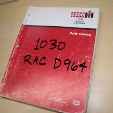 Case Ih International 1030 Tractor Parts Manual Book Spare Catalog Farm 1970