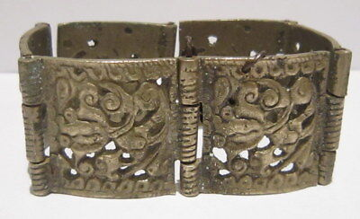 Cooperative Beautiful Antique 1800s.silver Bracelet In 6 Parts,amazing Floral Decoration # 4 Superior Performance Byzantine Antiquities