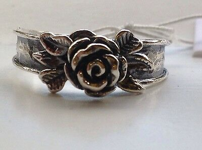 NWT OR PAZ STERLING SILVER 925 ROSE DESIGN RING SZ 10 MADE IN ISRAEL