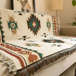 LD-QA-INDIAN-GEOMETRIC-PATTERN-COTTON-TRADITIONAL-BLANKET-HOME-SOFA-BED-THR