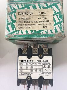 Totaline-P282-0433-40-FLA-Contactor-3-Pole-Coil-208-240-NEW-IN-BOX-SEE-DETAILS