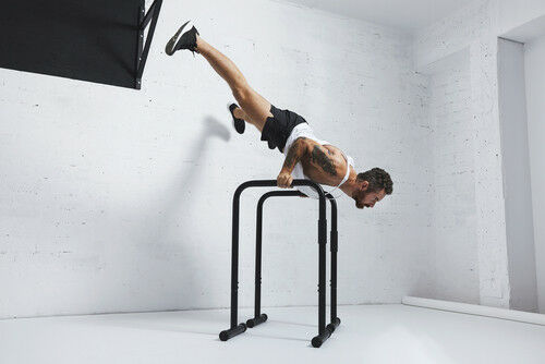 Parallel  Bar 90CM With Rubber Feet Handstand Calisthenics Bodyweight Crossfit  fashion