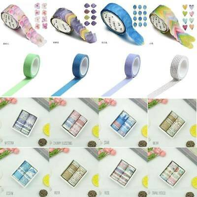 Washi Tape DIY Decorative Scrapbooking Paper Adhesive Sticker Craft 10Roll