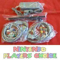 Nintendo Wii Complete Hookup Connection Kit Ac Av Component Cable Sensor Bar ++