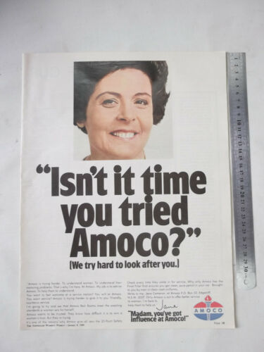 Amoco Petrol Full Page Advertisement removed from a 1969 Magazine
