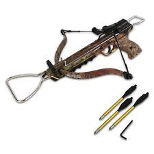 COBRA CAMO MINI 80 LB ARCHERY HUNTING Gun METAL PISTOL CROSSBOW W/ BOLTS ARROWS