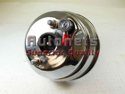 """7/"""" Chrome Dual Brake Booster Universal Double Diaphragm Hot Rat Rod Chevy Muscle"""