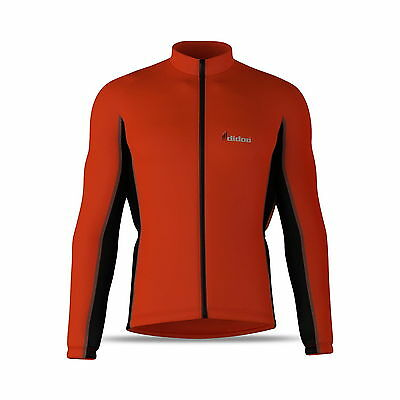 Mens Thermal Full Sleeve Zipper Cycling Jersey/Top Outdoor Wear Sports Shirt