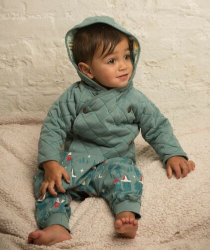 NWT Boy/'s Little Green Radicals Organic Blue Reversible Quilted Coat